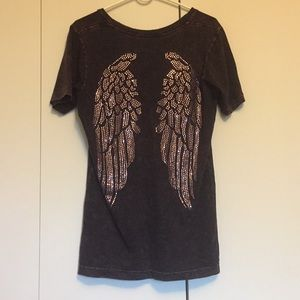 Sinful angel wing t shirt